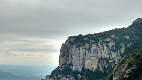 Montserrat Mountain Rock Barcelona Landscape