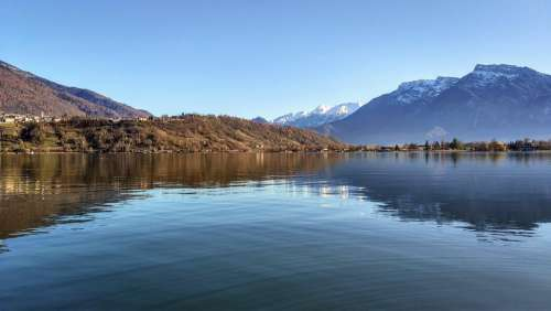 The Lake Of Caldonazzo Landscape Nature Lake