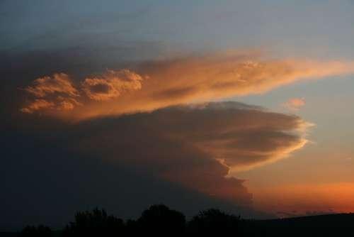 Sky Sunset Clouds Sunrise Landscape Nature