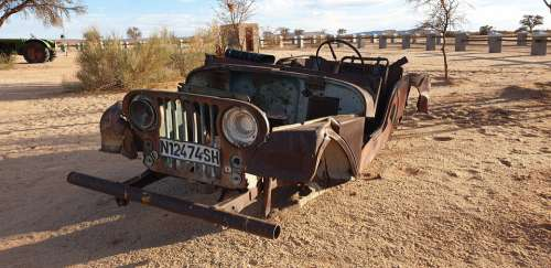 Wreck Auto Scrap Rusted Oldtimer Vehicle Pkw