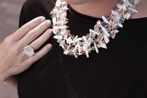 Stone Jewelry Necklace Fashion Mineral Bright