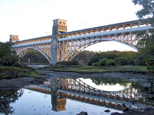Britannia Bridge Anglesey Menai Strait