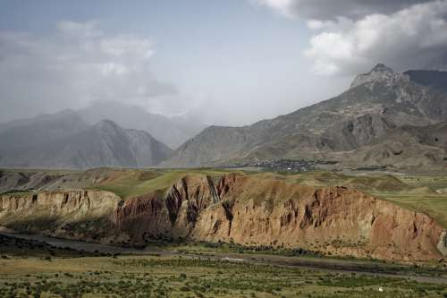 Tajikistan Abe-E-Panj River Valley Pamir Valley