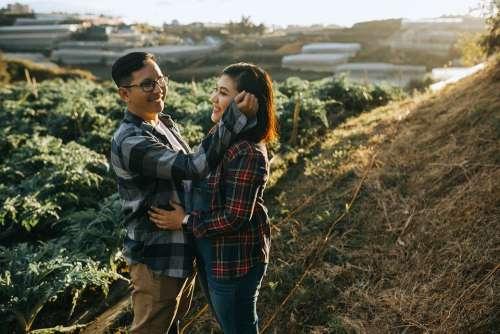 Love Farm People Courple Relationship Woman Man