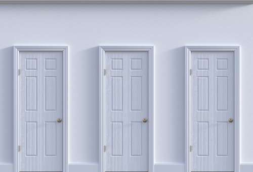 Doors Choice Decision Opportunity Future Decide