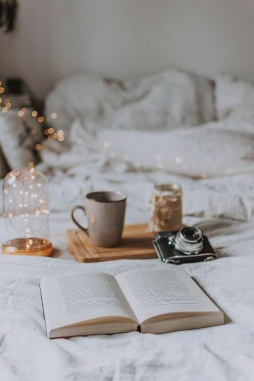 Camera Book Candle Read Cozy Bed Lamp Bokeh