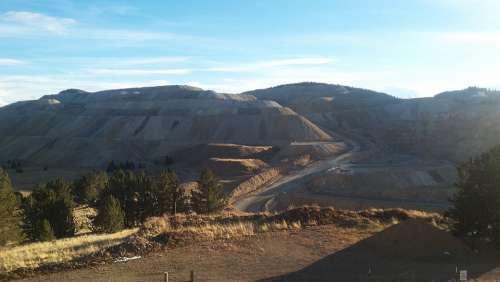 Mining Dirt Hills Goldmine Colorado Cripple Creek