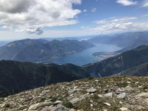 Lake Verbano From The Pizzo Di Vogorno Alpine Route