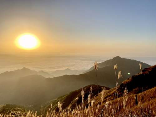 Sunrise Sun Sea Of Clouds Mountaintop