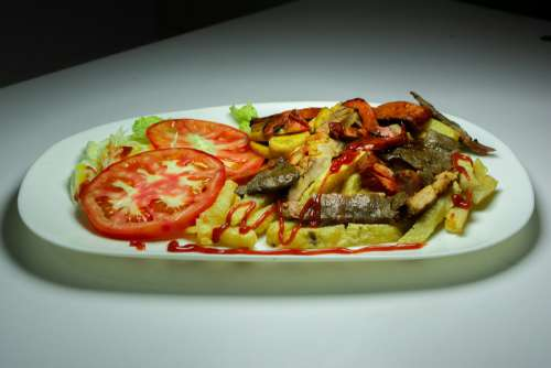 Arros Chinese Shrimp Seafood Lunch Prawns Kitchen
