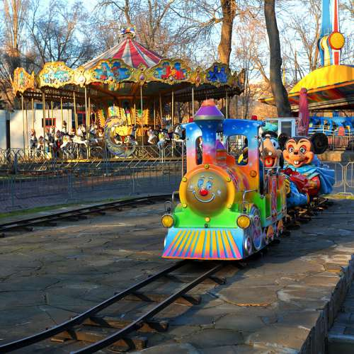 Attraction Park Entertainment Carousel Multi Color