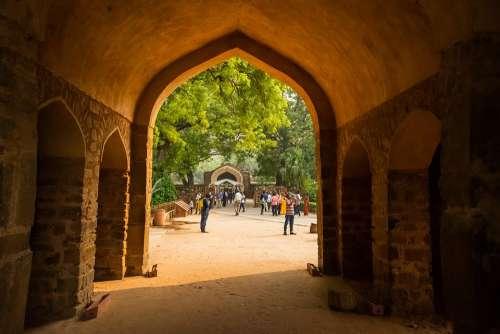 Building Architecture Ancient Entrance Delhi India