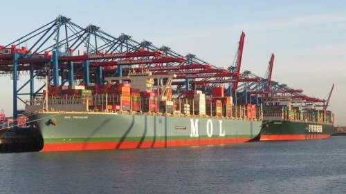 Ship Container Ship Hamburg Port