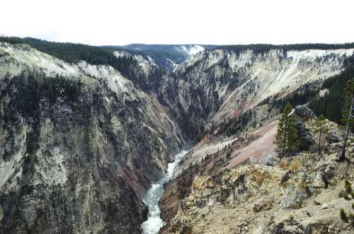 Yellowstone River Landscape Nature Scenic Outdoors