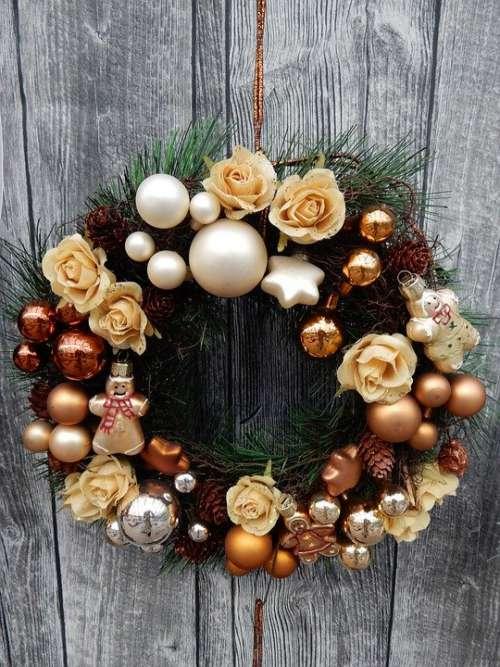 Christmas Decoration Wreath Door Wreath Roses