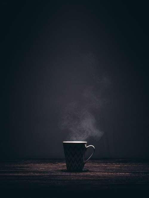 Cup Mug Steaming Smoke Coffee Tea Drink Dark