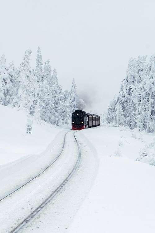 Steam Locomotive Brocken Railway Resin Tourism