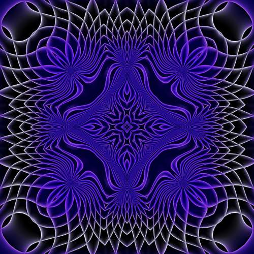 Purple Abstract Square Background