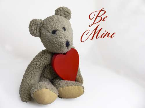 Teddy Bear Red Heart Valentine