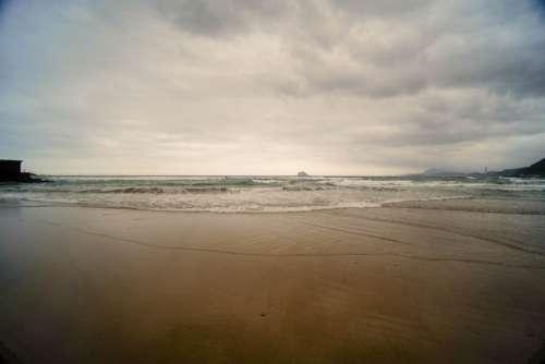 beach morning light vision sky