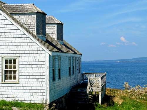 ocean cottage coast water view