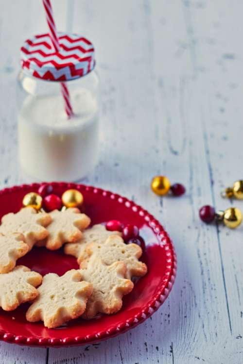 milk cookies christmas festive holiday