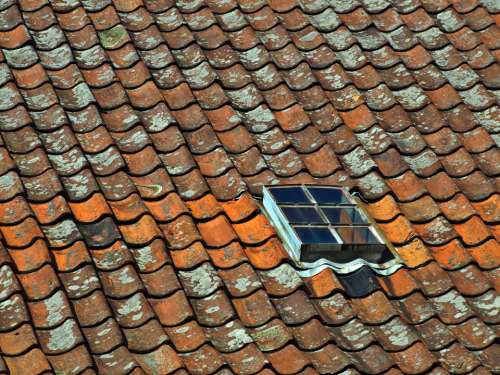 tile roof exterior window weathered
