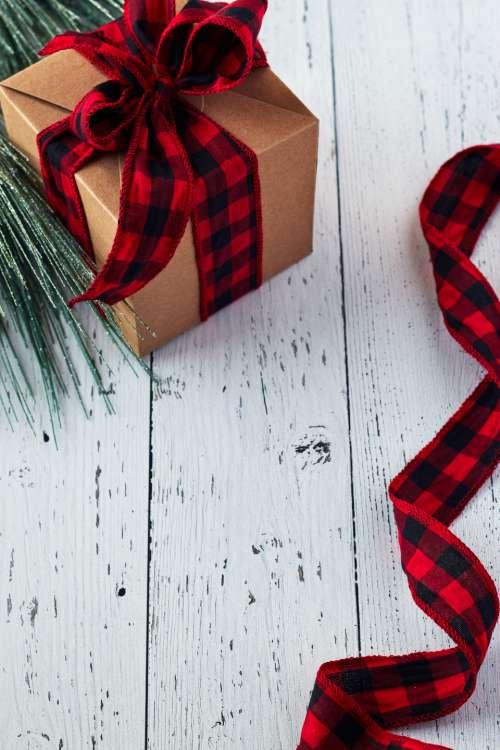 seasonal backgrounds christmas flat lay ribbon