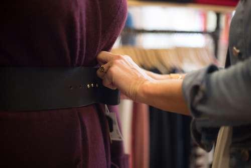 fashion belt woman hands dress