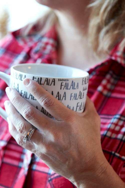 cozy coffee mug woman christmas