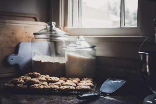fresh baked cookies flour window