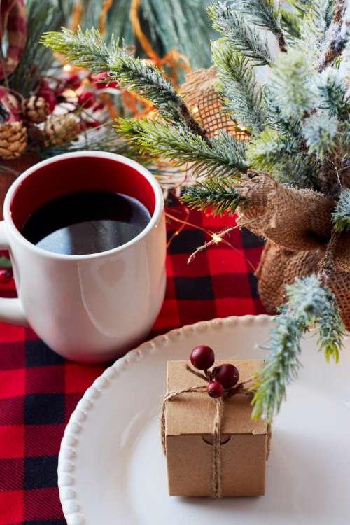 christmas gift box coffee festive