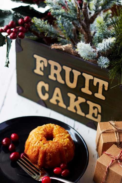 fruit cake christmas bakery berry