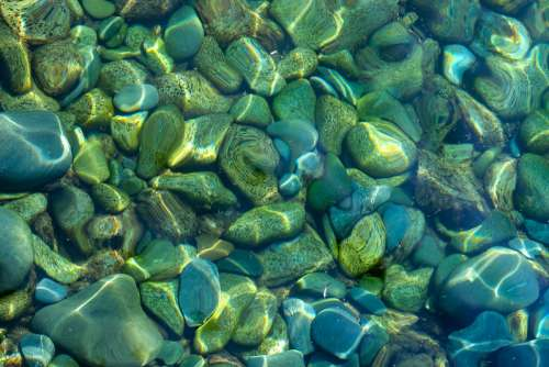 Rocks in Crystal Clear Water
