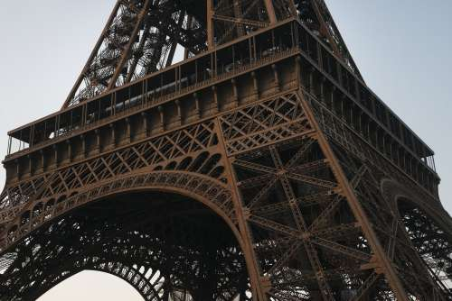 Close Up Eiffel Tower Photo