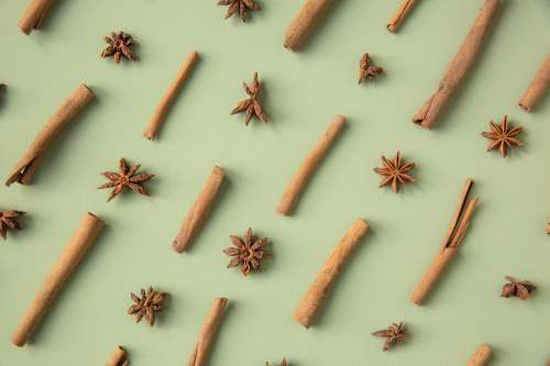 Star Anise And Cinnamon Sticks Photo
