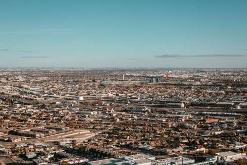 A Large Stretch Of City Scape Photo