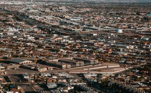 A Birds Eye View Of A City Photo