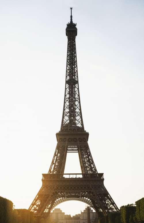 Eiffel Tower In Paris At Sunset Photo