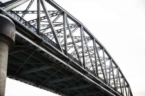 Gray Sky And Bridge Photo