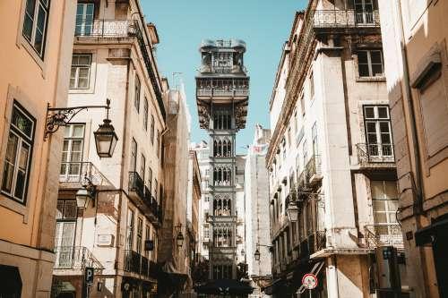Elevador De Santa Justa In Lisbon Portugal Photo