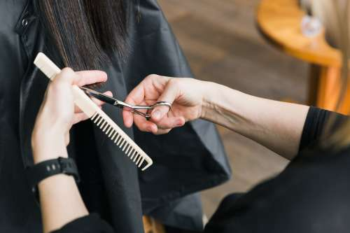 Snipping Stylist Photo