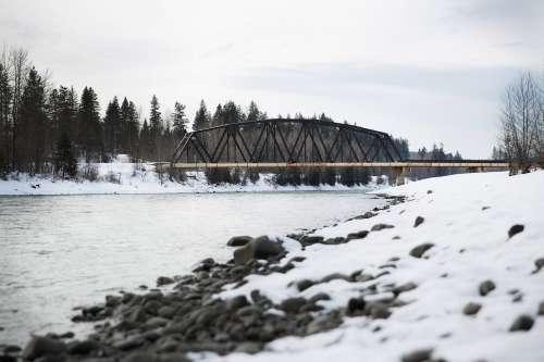 Snowy River And Bridge Photo