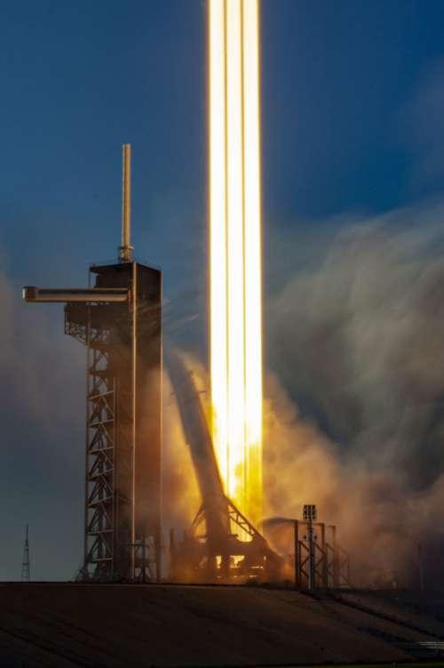 Rocket Launch Liftoff