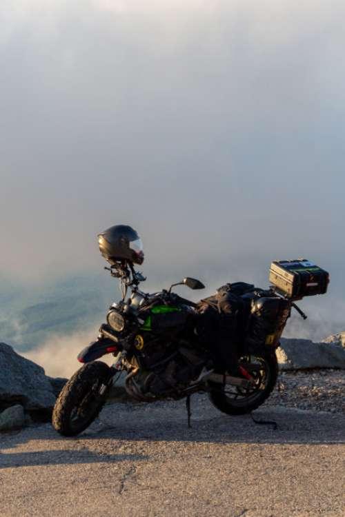 Motorcycle Mountain View Free Photo