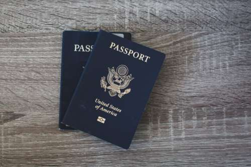 Passport Table Free Photo