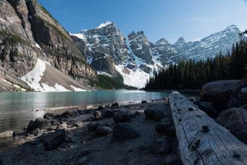 Lake More Mountains Alberta Canada Landscape