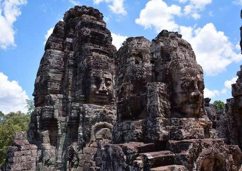 Cambodia Angkor Wat Siem Reap Angkor Temple Ruin