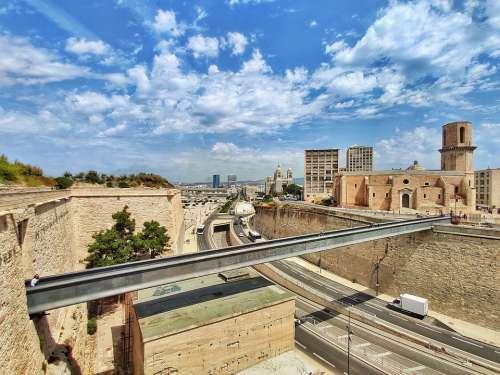 Marseille City Travel Sky Architecture Blue