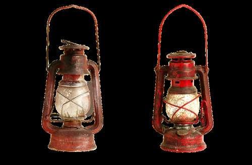 Kerosene Lamp Isolated Glass Transparent Light
